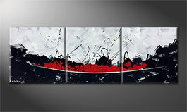 La peinture exclusive 'Liquid Red' 210x70cm