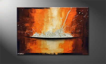 La peinture exclusive 'Meltdown' 120x80cm