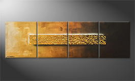 La peinture exclusive 'Middle Of Gold' 200x60cm