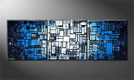 La peinture exclusive 'Ocean View' 210x70cm