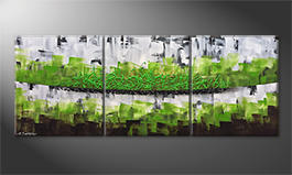 La peinture exclusive 'Organic Green' 180x70cm
