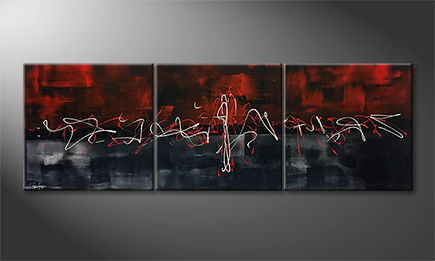 La peinture exclusive 'Pulse Of Life' 180x60cm