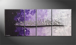 La peinture exclusive 'Purple Melody' 170x70cm