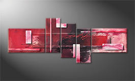 La peinture exclusive 'Red Clouds' 230x90cm