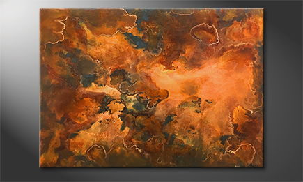 La peinture exclusive 'Rusty Clouds' 140x100cm