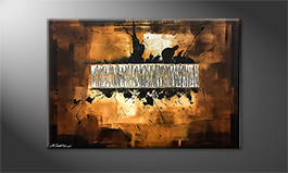 La peinture exclusive 'Silver Search' 120x80cm