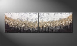 La peinture exclusive 'Silver Trees' 200x60cm