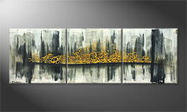 La peinture exclusive 'Vivid Gold' 210x70cm