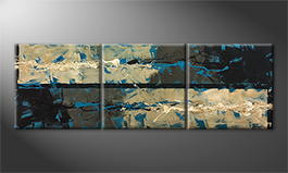 La peinture exclusive 'Wild Water' 210x70cm