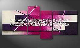 La toile moderne 'Purple Lights' 130x65cm