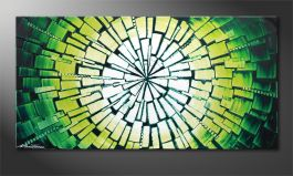 Le beau tableau mural 'Center of Jungle' 100x50cm
