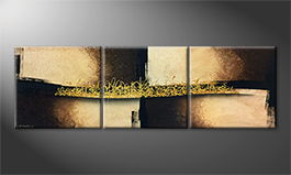 Le tableau exclusif 'Arabic Gold' 210x70cm