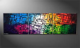 Le tableau exclusif 'Colorful Feelings' 210x60cm