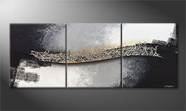 Le tableau exclusif 'Connecting Silver' 180x70cm