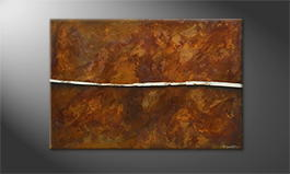Le tableau exclusif 'Cut Rust' 120x80cm