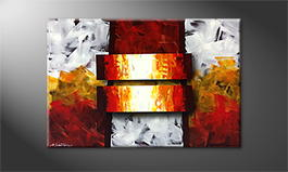 Le tableau exclusif 'Fire Bars' 120x80cm