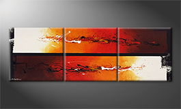 Le tableau exclusif 'Fire Fields' 210x70cm