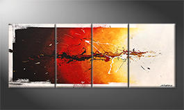 Le tableau exclusif 'Fire On Ice' 180x70cm