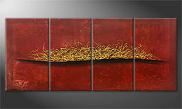 Le tableau exclusif 'Golden Fire' 160x70cm