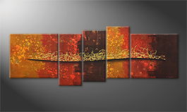 Le tableau exclusif 'Golden Fire' 210x80cm