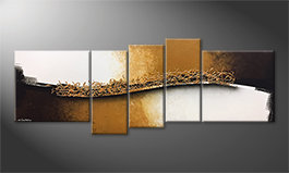 Le tableau exclusif 'Golden Harmony' 210x80cm
