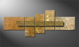 Le tableau exclusif 'Golden Treasure' 210x80cm