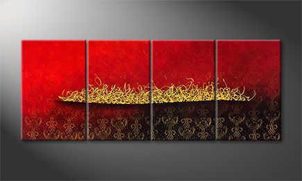 Le tableau exclusif 'Golden Way' 200x80cm