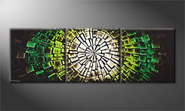 Le tableau exclusif 'Green Babylon' 210x70cm