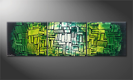 Le tableau exclusif 'Green Hope' 210x60cm