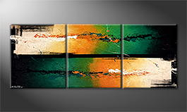 Le tableau exclusif 'Hot Cold Streams' 180x70cm