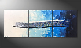 Le tableau exclusif 'Ice Stream' 180x70cm