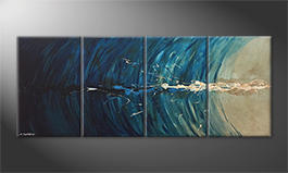 Le tableau exclusif 'Icy Splash' 200x80cm