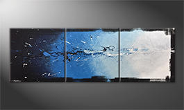 Le tableau exclusif 'Into The Blue' 210x70cm