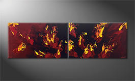 Le tableau exclusif 'Liquid Flames' 200x60cm