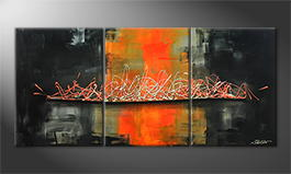 Le tableau exclusif 'Orange Sky' 150x70cm
