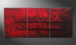 Le tableau exclusif 'Red Glow' 180x80cm