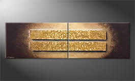 Le tableau exclusif 'Riot Of Gold' 200x60cm