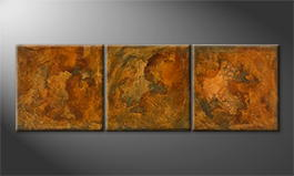 Le tableau exclusif 'Rusty Three' 180x60cm
