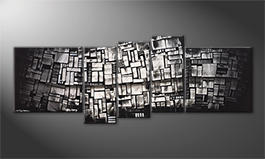 Le tableau exclusif 'Shadow Cubes' 210x80cm