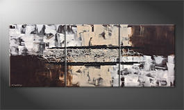 Le tableau exclusif 'Silver Connection' 180x70cm