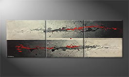 Le tableau exclusif 'Sparkeling Red' 240x80cm