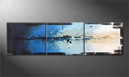 Le tableau exclusif 'Splashy Water' 210x60cm