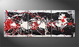 Le tableau exclusif 'Strong Contrast' 180x70cm