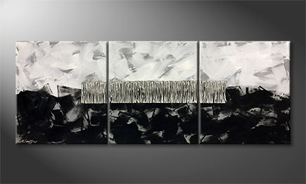 Le tableau exclusif 'Urban Snow' 180x60cm