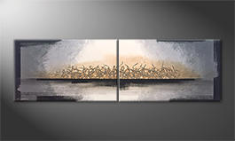Le tableau exclusif 'Whispering Light' 200x60cm