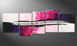 Le tableau moderne 'Broken Purple' 220x80cm