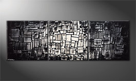 Le tableau moderne 'Enlightened Cubes' 210x70cm