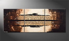 Le tableau moderne 'Glowing Splash' 180x70cm