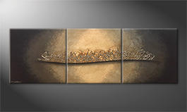 Le tableau moderne 'Golden Night' 210x70cm