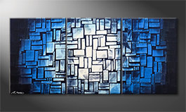 Le tableau moderne 'Moon Blues' 150x70cm